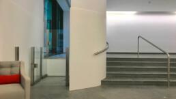 Contemporary DDA lift in Office lobby
