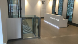 Modern Wheelchair Lift in Lobby